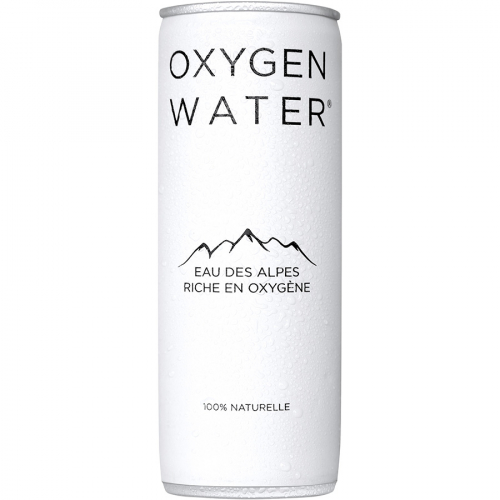 Agua enriquecida de Oxygen Water (Lata de 250 g) – Caja de 24 unidades