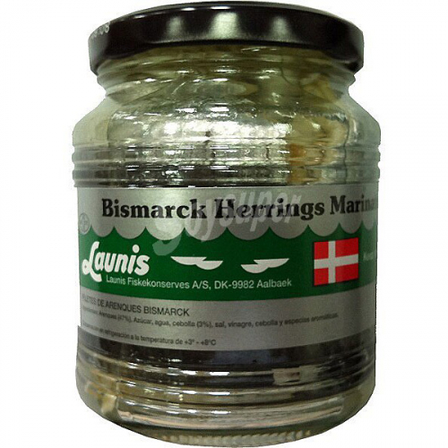 Arenque bismarck de Launis (Frasco de 270 g) – Caja de 6 unidades