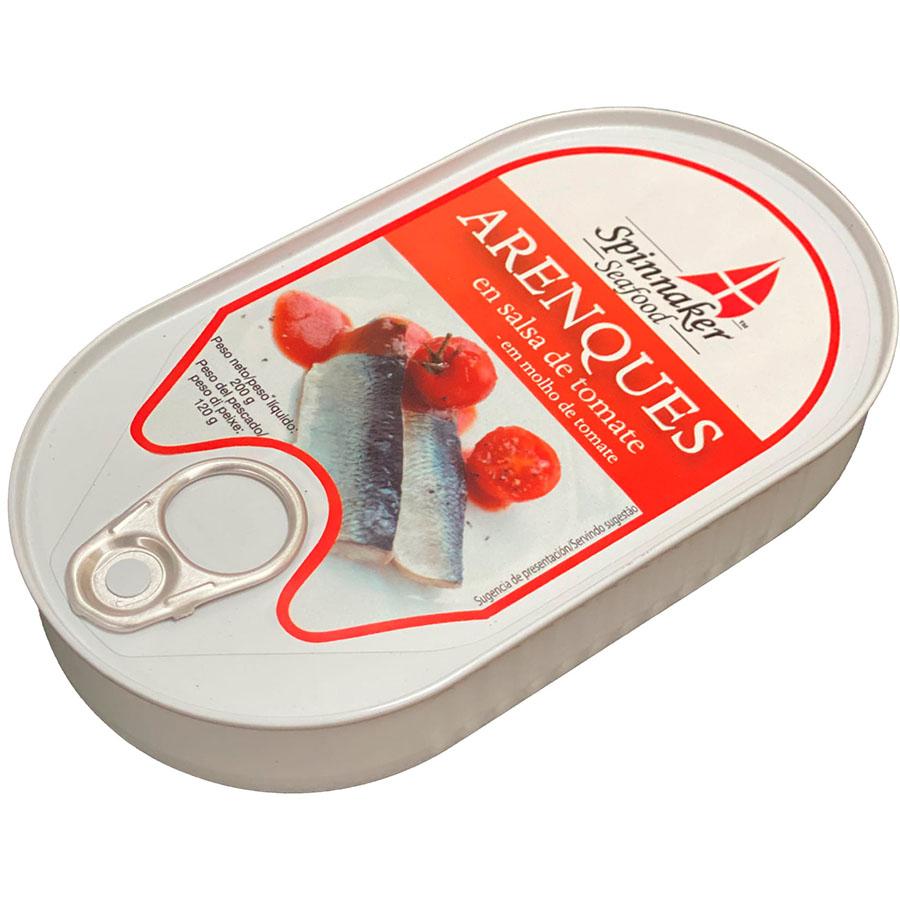 Arenques en salsa de tomate de Spinnaker (Lata de 200 g) – Caja de 10 unidades