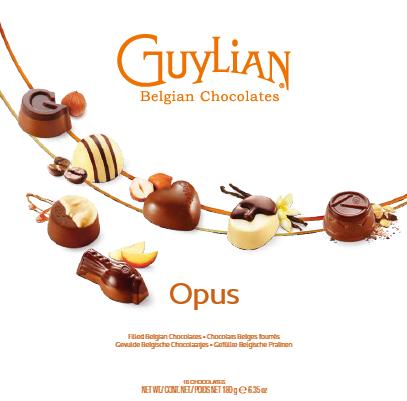 Bombón opus de Guylian (Estuche de 180 g) – Caja de 6 unidades