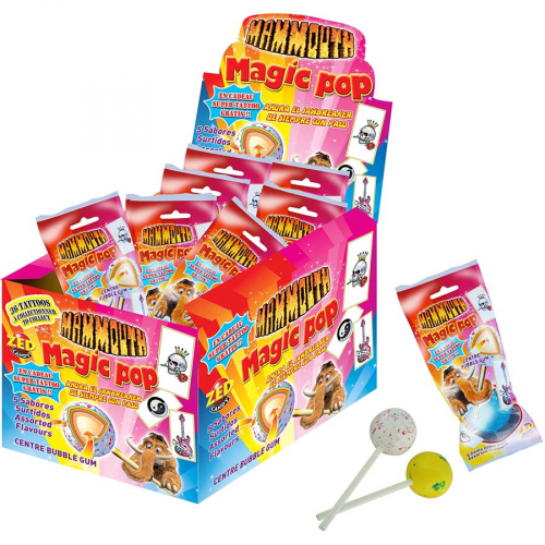 Caramelo de palo Mammouth jawbreaker de Zed Candy (60 g) – Caja de 18 unidades