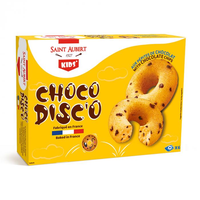 Choco disco con pepitas de chocolate de Saint Aubert (180 g) – Caja de 9 unidades