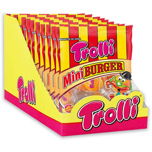 Display mini burger de Trolli (Bolsa de 50 g) – Caja de 10 unidades