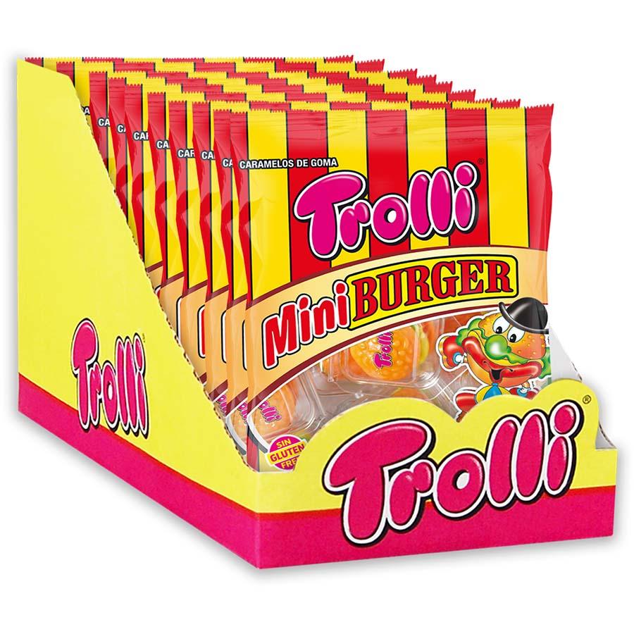 Display mini burger de Trolli (Bolsa de 50 g) – Caja de 10 unidades