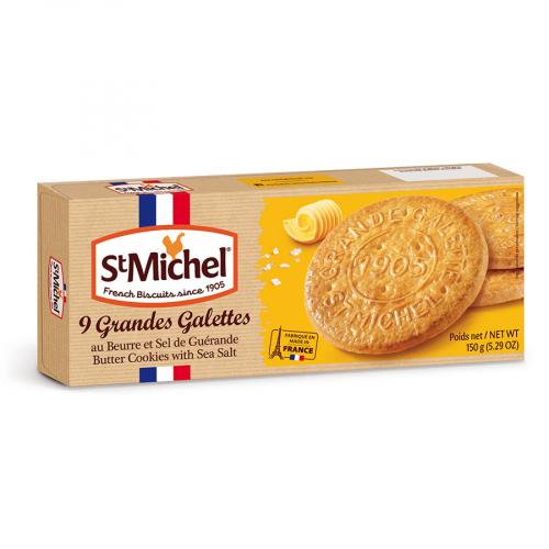 Galette de mantequilla y sal de Saint Michel (Estuche de 150 g) – Caja de 12 unidades