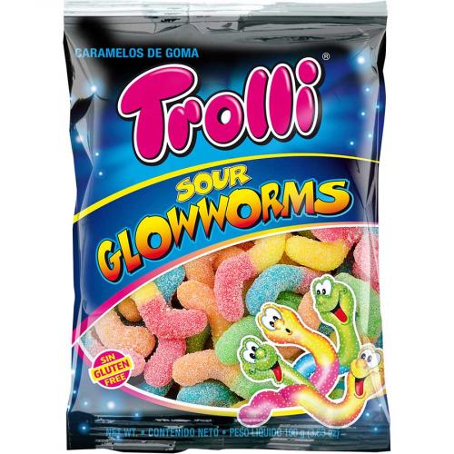 Gusanos pica pica de Trolli (Bolsa de 100 g) – Caja de 12 unidades