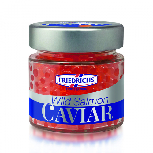 Huevas de salmón de Friedrichs (Frasco de 100 g) – Caja de 12 unidades