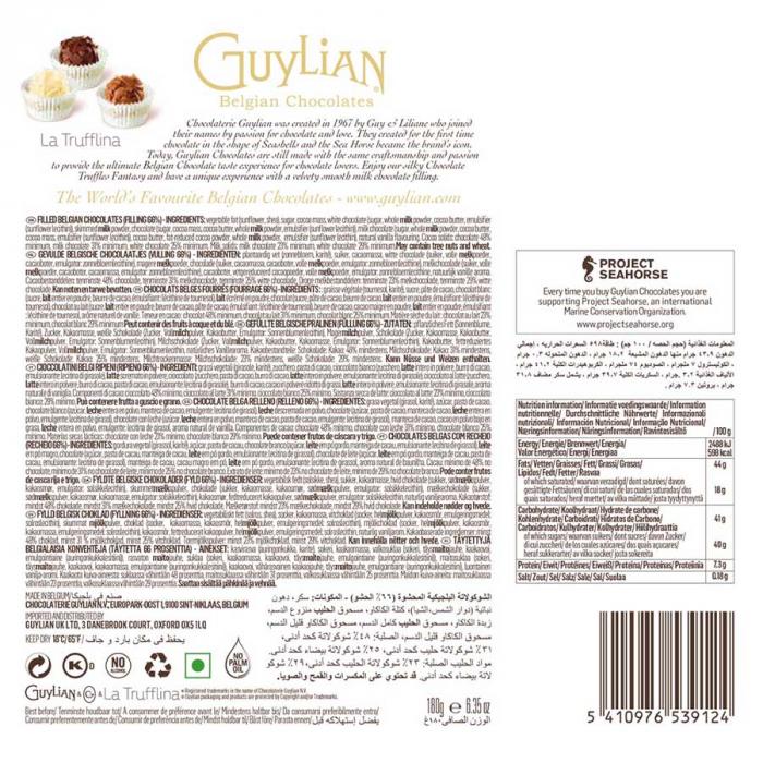 La trufflina de Guylian (Estuche de 180 g) – Caja de 6 unidades