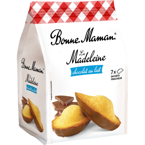 Madeleines de chocolate de Bonne Maman (Bolsa de 210 g) – Caja de 7 unidades