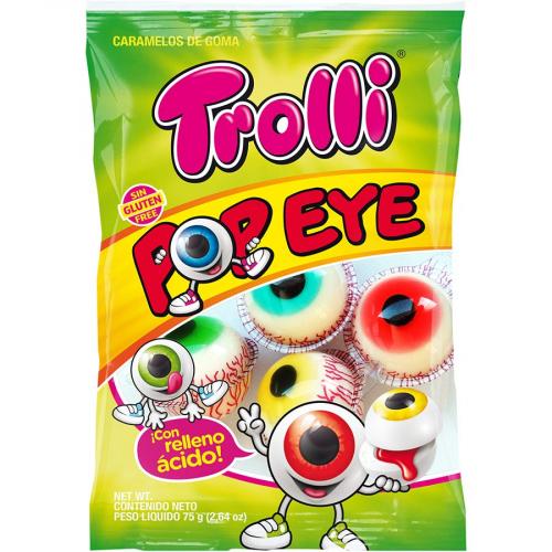 Ojos de Trolli (Bolsa de 75 g) – Caja de 21 unidades