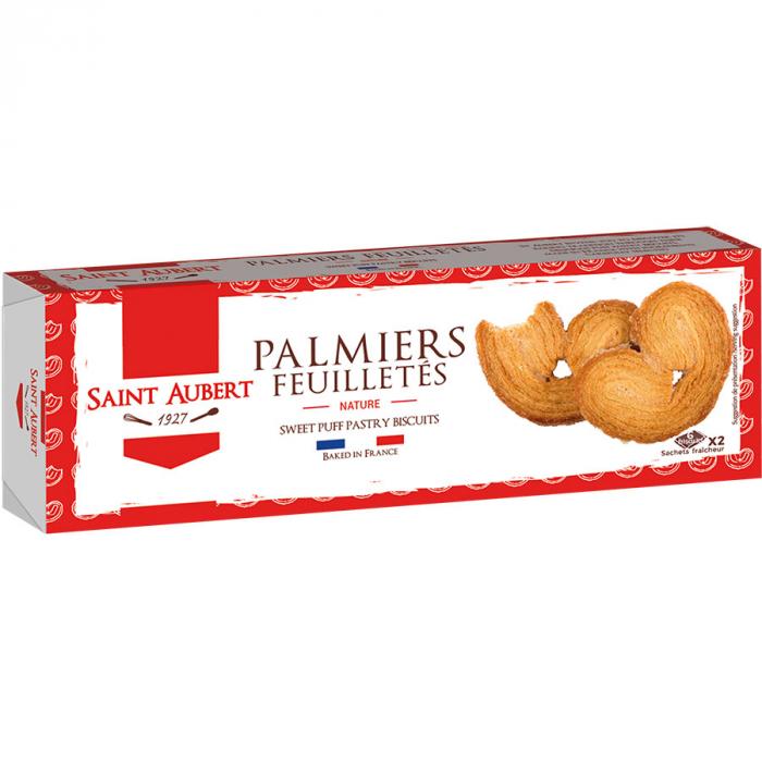 Palmiers nature de Saint Aubert (Estuche de 100 g) – Caja de 24 unidades