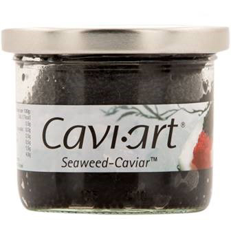 Perlas de algas negro caviart de Sir Alex (Frasco de 100 g) – Caja de 12 unidades