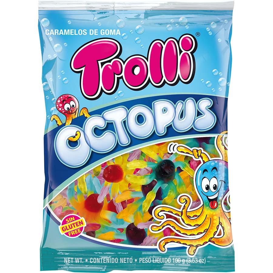 Pulpos de Trolli (Bolsa de 100 g) – Caja de 12 unidades