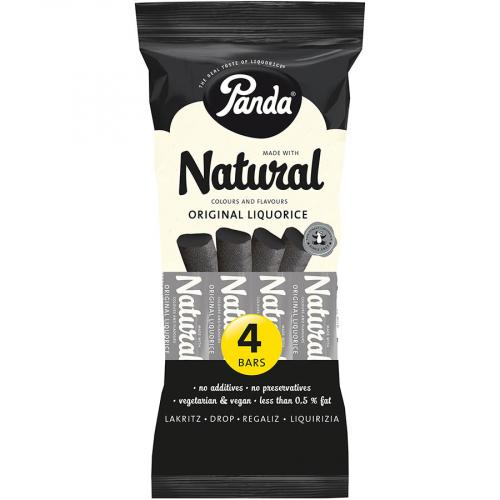 Regaliz all natural de Panda (Estuche de 4x32 g) – Caja de 18 unidades