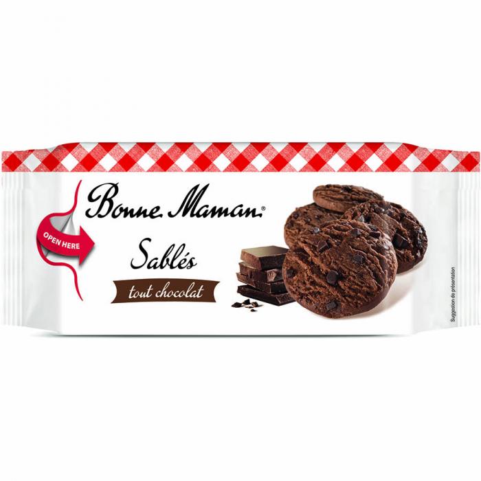 Sablés tout chocolat de Bonne Maman (Estuche de 150 g) – Caja de 8 unidades