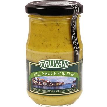 Salsa de eneldo de Druvan (Frasco de 200 g) – Caja de 6 unidades