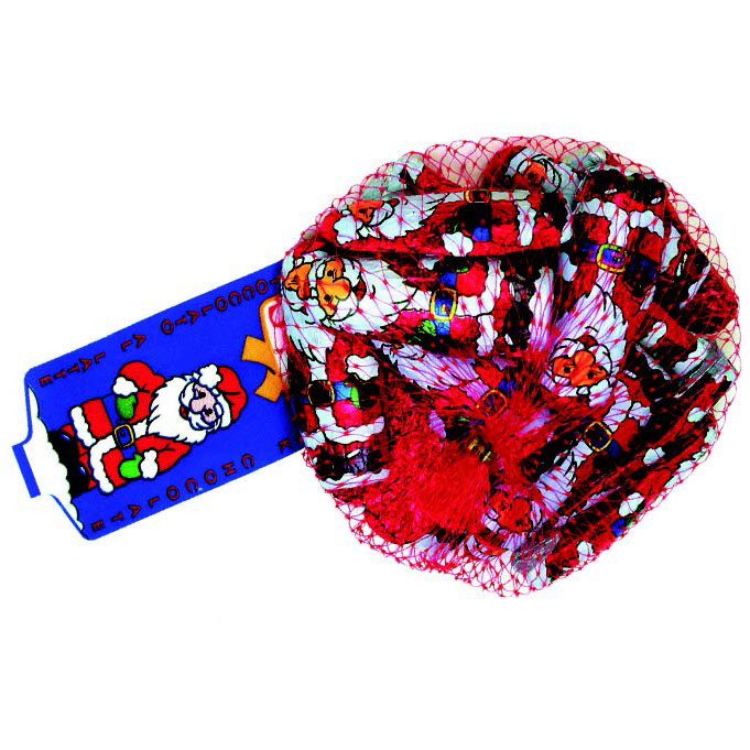 Santa Claus de chocolate y avellana de Sorini (Red de 100 g) – Caja de 45 unidades