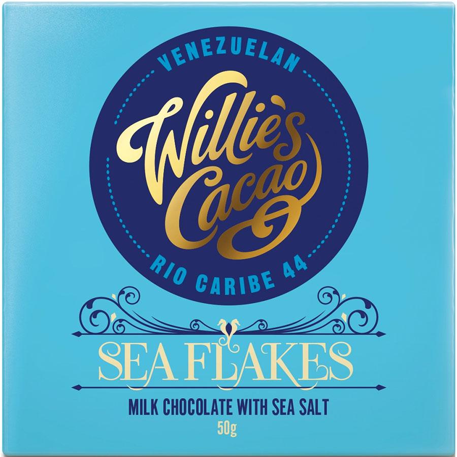 Sea flakes de Willie's Cacao (Tableta de 50 g) – Caja de 12 unidades