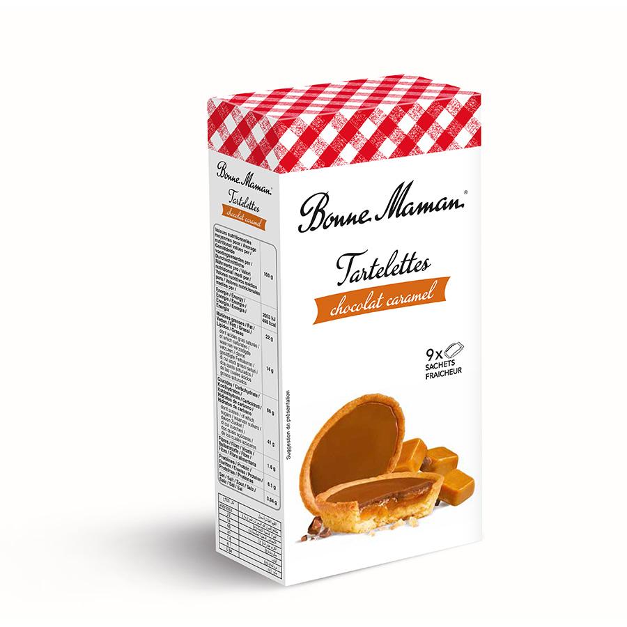 Tartaleta de chocolate y caramelo de Bonne Maman (Estuche de 135 g) – Caja de 12 unidades
