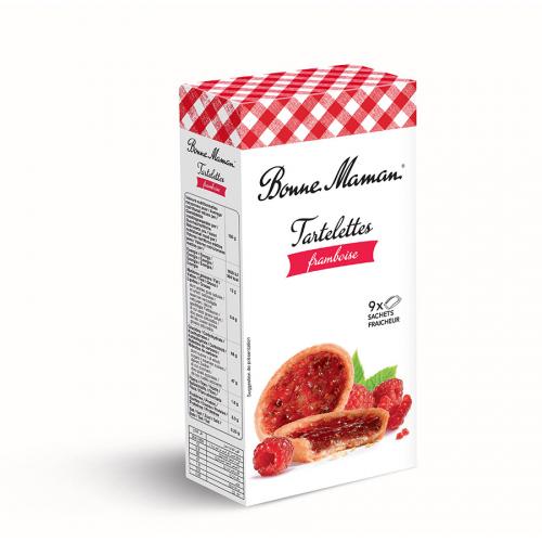 Tartaleta de frambuesa de Bonne Maman (Estuche de 135 g) – Caja de 12 unidades