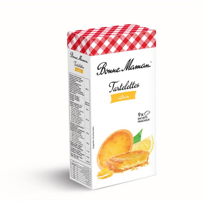 Tartaleta de limón de Bonne Maman (Estuche de 125 g) – Caja de 12 unidades