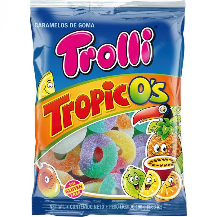 Trópicos de Trolli (Bolsa de 100 g) – Caja de 12 unidades